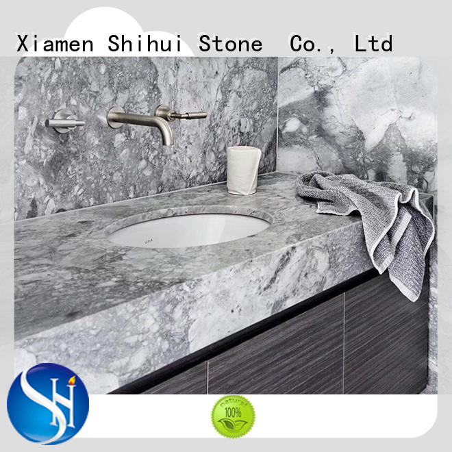 Shihui black best stone kitchen countertops wholesale for kitchen
