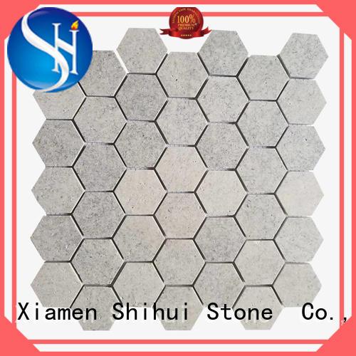 Shihui basalt cobblestone mosaic tile for indoor