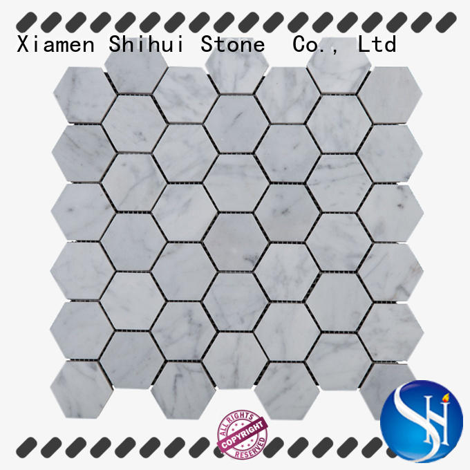 Shihui ivory stone mosaic backsplash manufacturer for bathroom