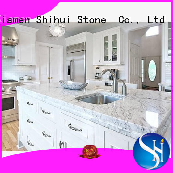 calacatta stone slab countertop personalized for kitchen