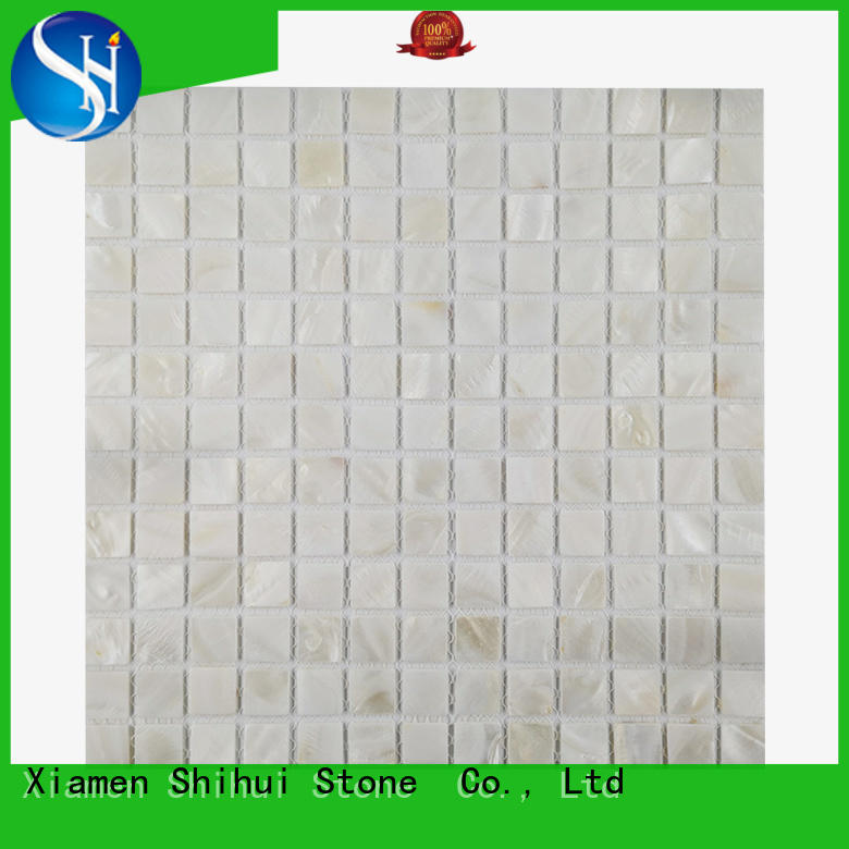 Shihui grey natural stone mosaic tiles manufacturer for indoor