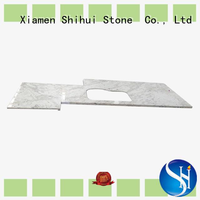 Shihui black quartz kitchen countertops wholesale for kitchen