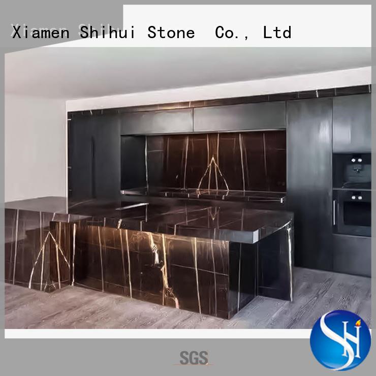 Shihui black cornerstone countertops wholesale for bar