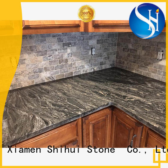Shihui black engineered stone countertops supplier for bar