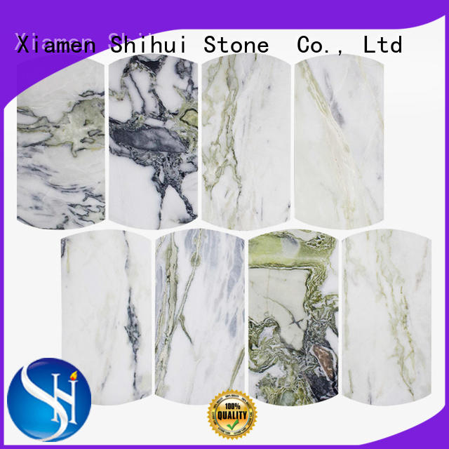 Shihui ivory natural stone mosaic tiles manufacturer for indoor