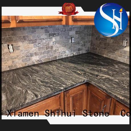 Shihui brown quartz island countertop for bar