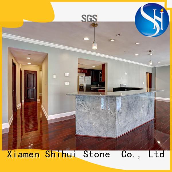 Engineered Stone Countertops Silver Galaxy Grey Granite Countertop