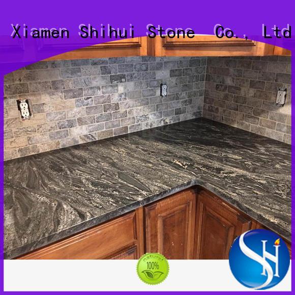 Shihui stone slab countertop factory price for bathroom