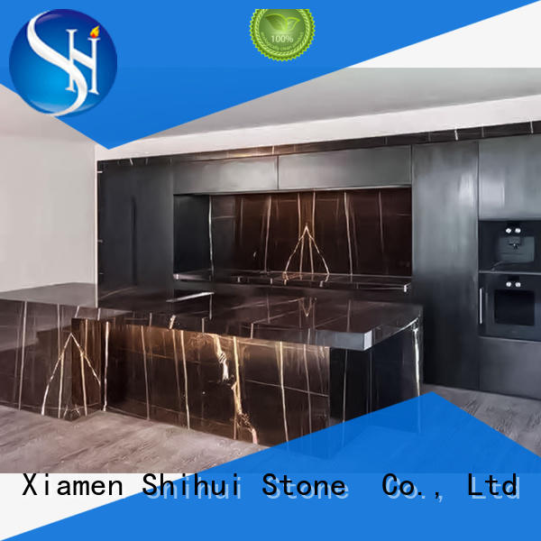 Shihui certificated cultured stone countertop supplier for hotel