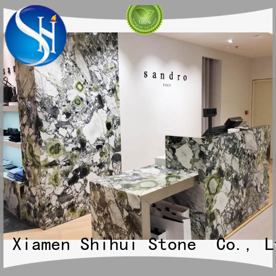 black solid stone countertops supplier for hotel