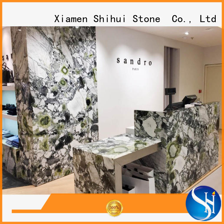 juparana stone countertop personalized for hotel