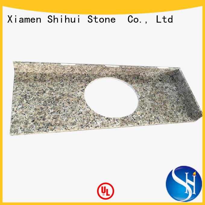 Shihui black marble tile countertop for hotel