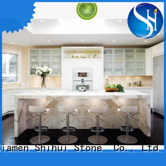 Shihui calacatta stone slab countertop personalized for hotel