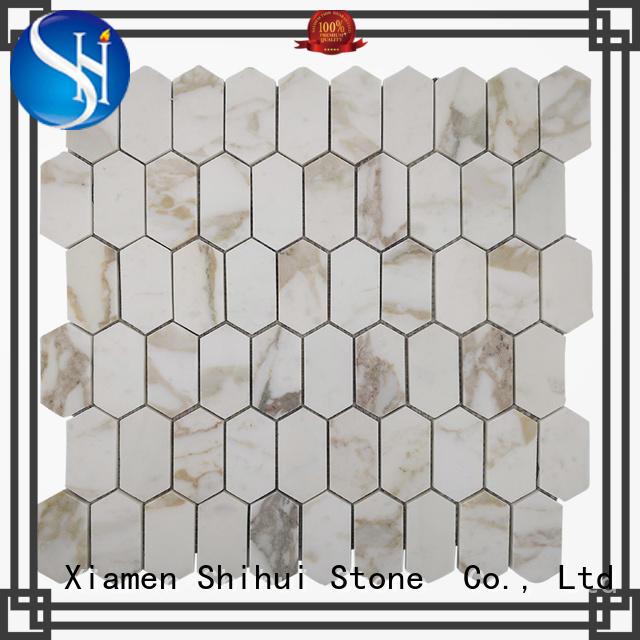 Shihui hot selling stone mosaic backsplash series for indoor