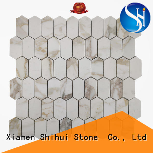 Shihui quality natural stone tile mosaic from China for indoor
