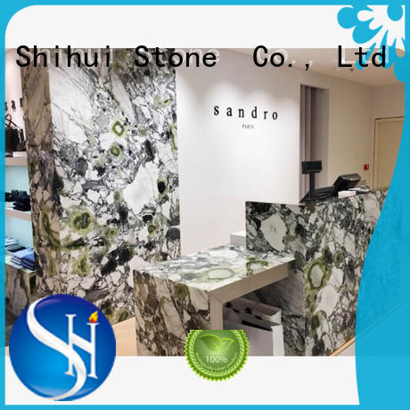 Stone Slab Countertop Ice Green Marble Countertop