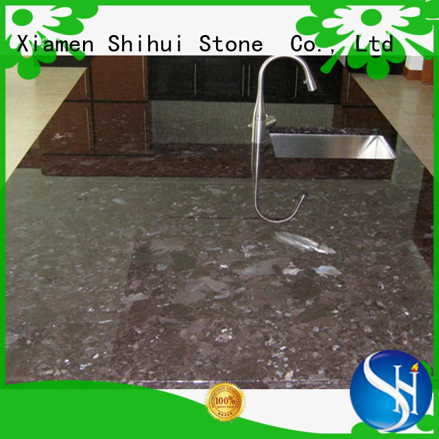 black manmade stone countertops personalized for bathroom