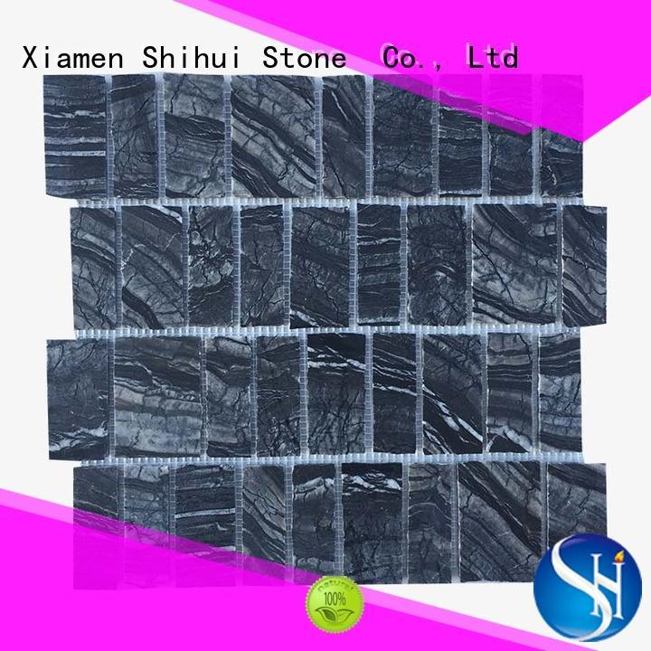 Shihui ivory mosaic stone flooring from China for bathroom