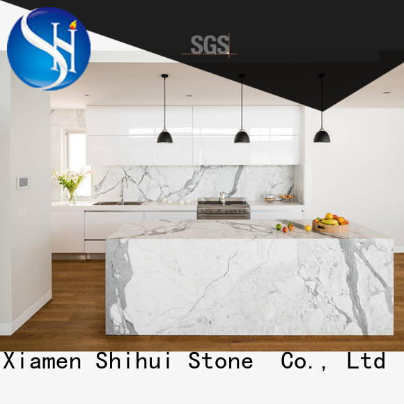 Shihui calacatta stone tile countertops factory price for hotel