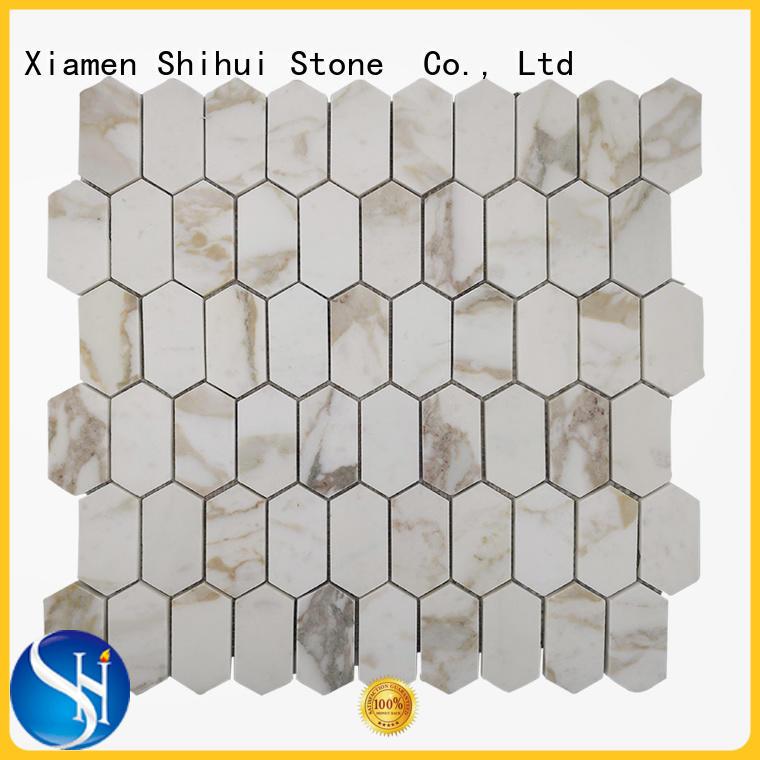 Calacatta Gold Marble Honeycomb Tile Stone Mosaic