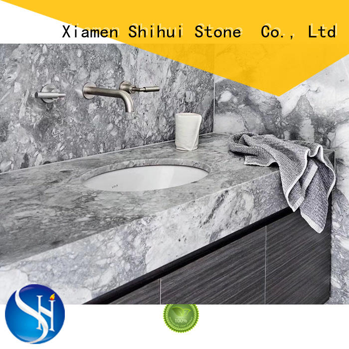 Shihui marble tile countertop factory price for bar