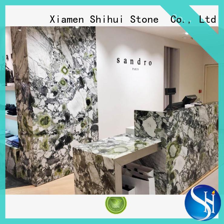 solid quartz countertop for kitchen Shihui