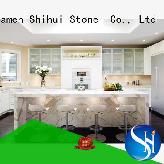 brown solid stone countertops supplier for hotel