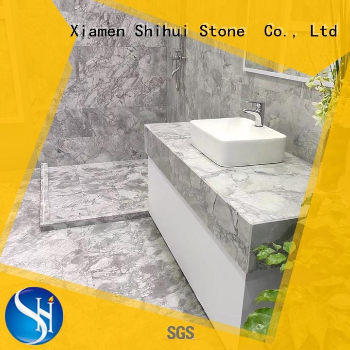 Shihui approved natural marble tile with good price for household