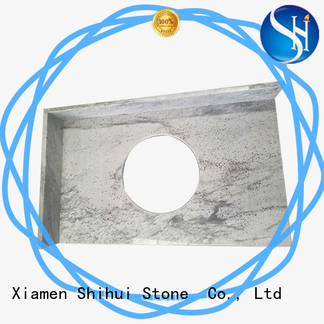 Shihui black stone tile countertops factory price for hotel