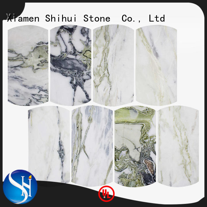 Shihui hexagon natural stone mosaic customized for toilet