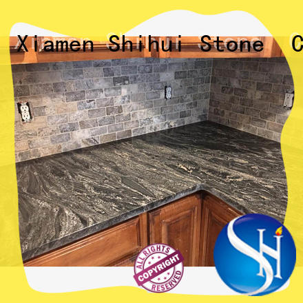 Shihui brown manmade stone countertops personalized for hotel