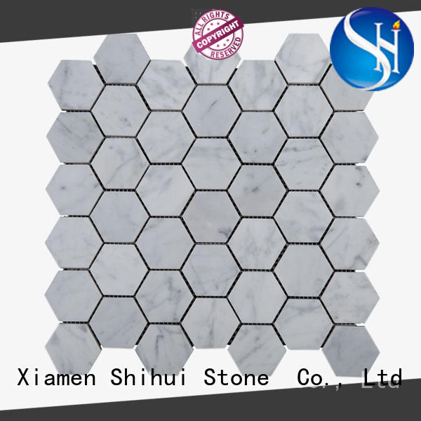 Shihui natural stone mosaic tiles directly sale for bathroom