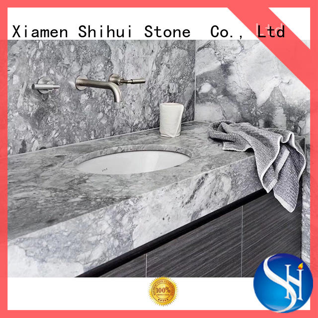 manmade solid stone countertops wholesale for kitchen