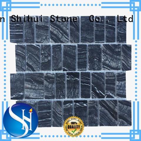 Shihui square stone mosaic tile backsplash manufacturer for toilet