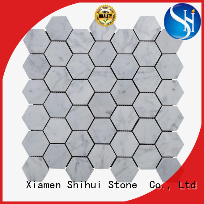 Shihui natural stone tile mosaic directly sale for indoor