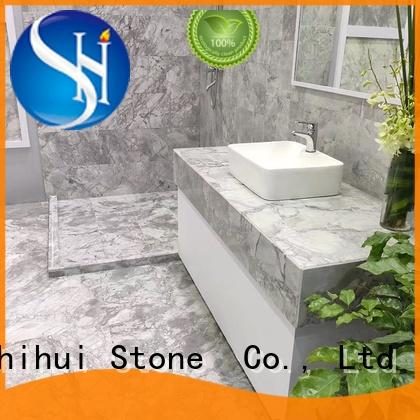 white marble stone tile design for indoor
