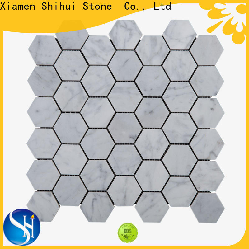 grey natural stone tile mosaic manufacturer for bathroom
