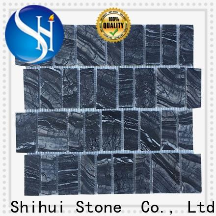 Shihui square natural stone mosaic tiles manufacturer for indoor