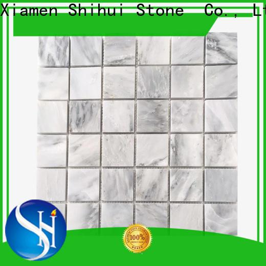 Shihui practical stone mosaic backsplash directly sale for toilet