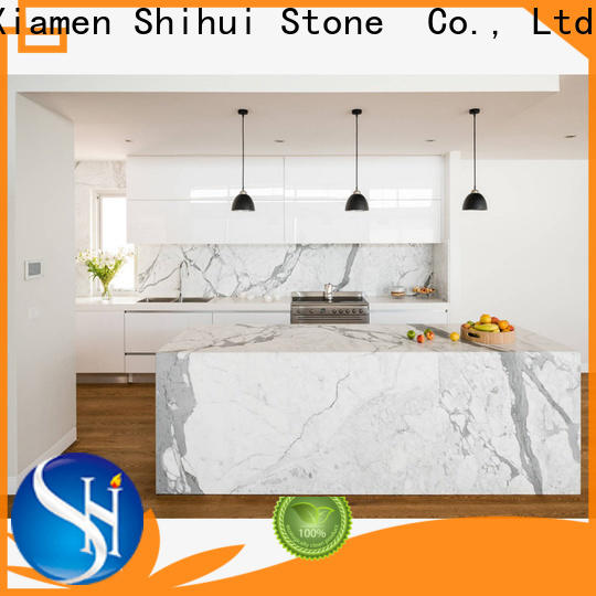 Shihui cultured stone countertop supplier for bathroom