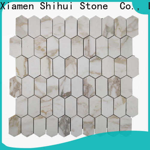 Shihui square natural stone mosaic series for bathroom
