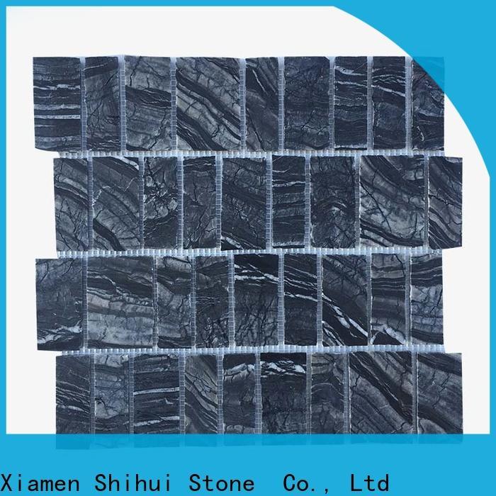Shihui square stone mosaic tile backsplash customized for household