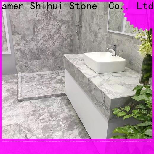 Shihui marble stone tile design for toilet