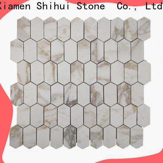 Shihui ivory stone mosaic tile backsplash customized for household
