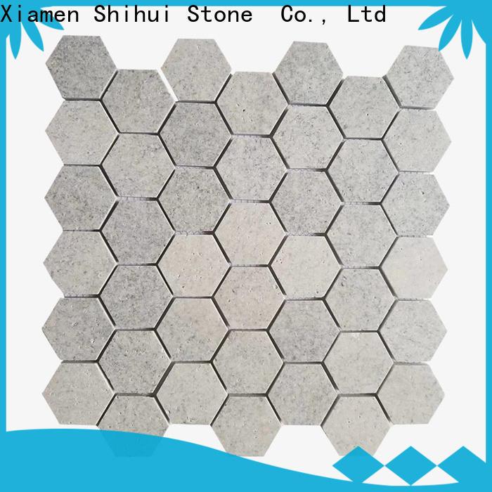 Shihui hexagon stone mosaic backsplash customized for toilet
