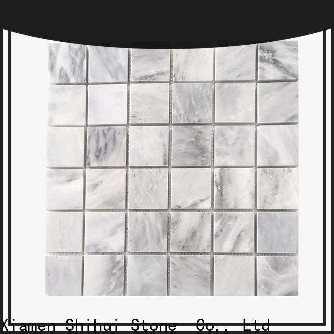 ivory stone mosaic backsplash from China for bathroom