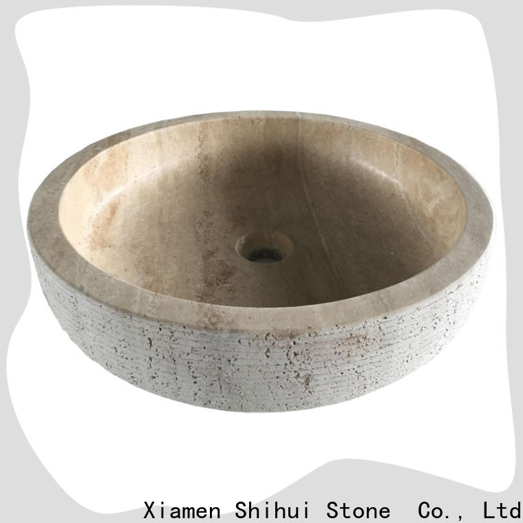 certificated natural stone basin personalized for hotel