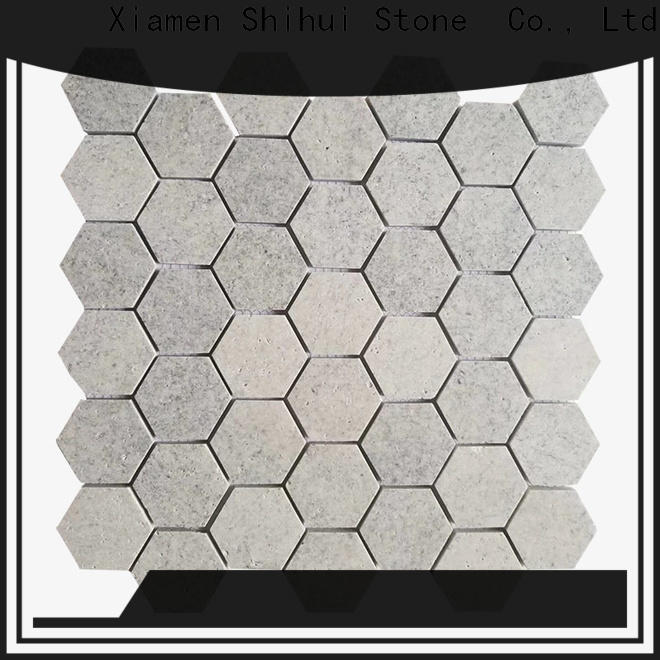 ivory natural stone mosaic from China for bathroom