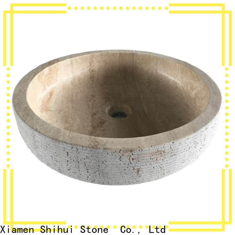 certificated natural stone basin supplier for bathroom