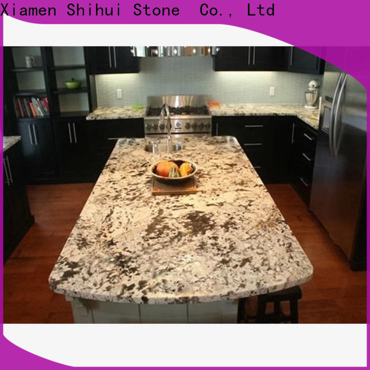 Shihui brown engineered stone countertops factory price for kitchen